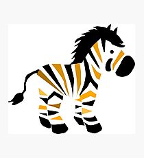 Zebra with black and yellow stripes Photographic Print