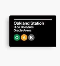 Oakland Pro Sports Subway Sign Canvas Print