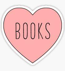 I Love Books Heart Sticker
