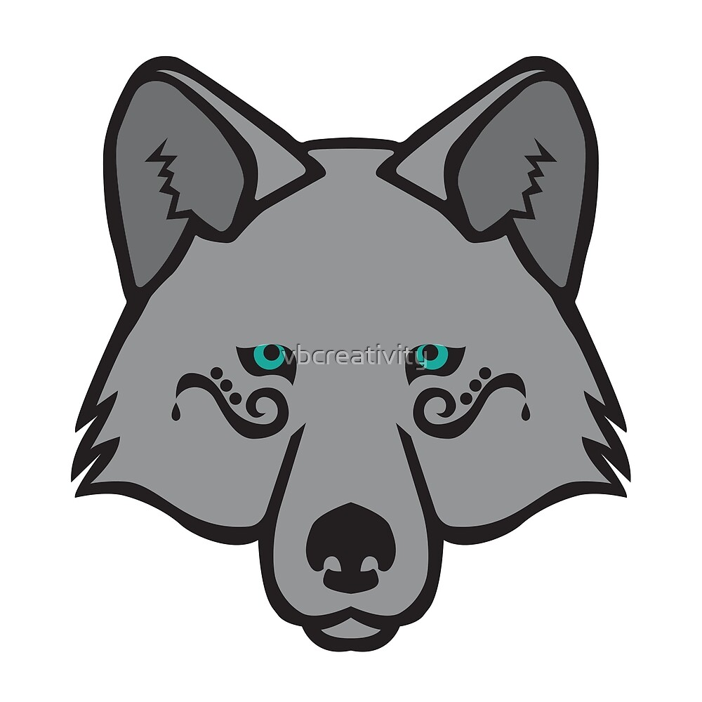 Mystical Wolf Series – Turquoise by vbcreativity