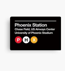 Phoenix Pro Sports Subway Sign Canvas Print