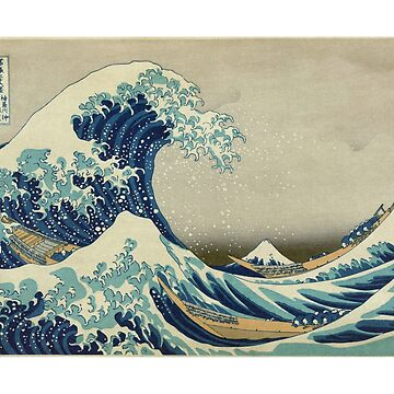 Great Wave T-Shirt - Hokusai Duvet Surfing Kanagawa Mount Fuji Sticker by deanworld