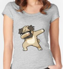 Dabbing Pug Funny - Dog Lovers Women's Fitted Scoop T-Shirt