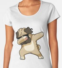 Dabbing Pug Funny - Dog Lovers Women's Premium T-Shirt