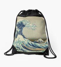 Mochila saco Gran camiseta de la onda - Hokusai Duvet Surfing Kanagawa Monte Fuji Pegatina