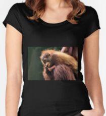 Baby Orangutan, Borneo  Women's Fitted Scoop T-Shirt