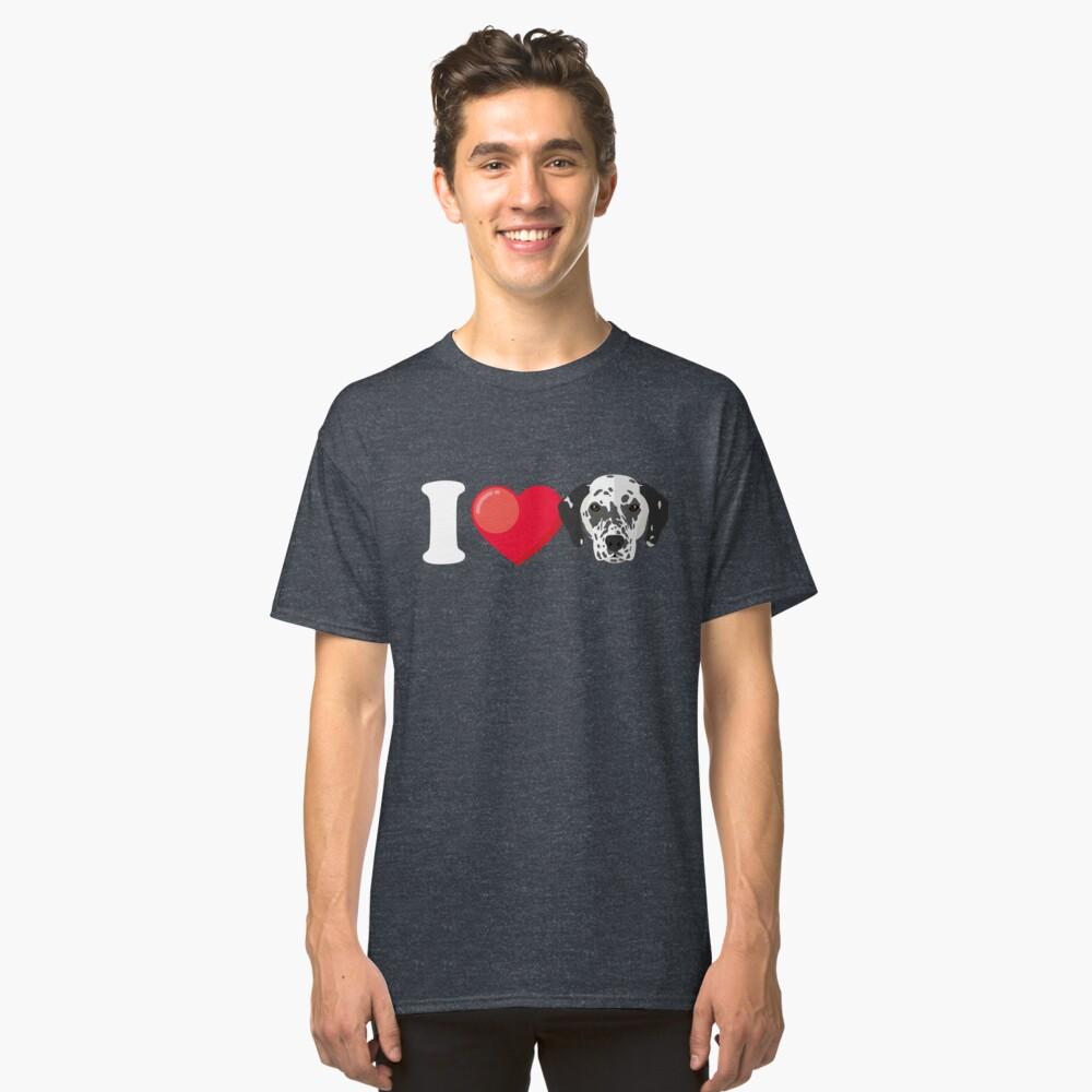I Love Dalmatians Classic T-Shirt Front