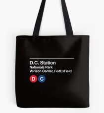 Washington D.C. Pro Sports Subway Sign Tote Bag