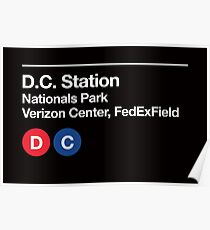 Washington D.C. Pro Sports Subway Sign Poster