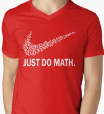 Just do math t-shirt Men's V-Neck T-Shirt