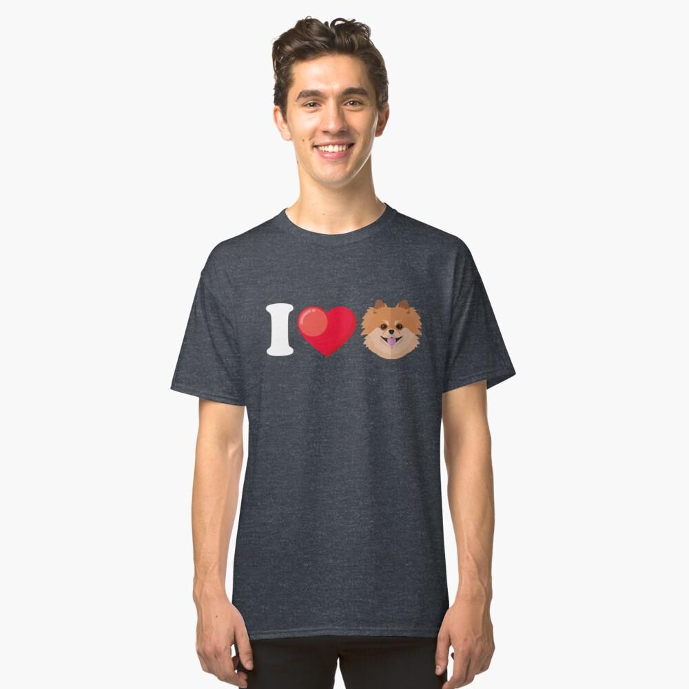 I Love Pomeranian Classic T-Shirt Front
