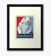 Dramatic Chipmunk Framed Print