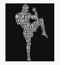 Muay Thai Words Photographic Print