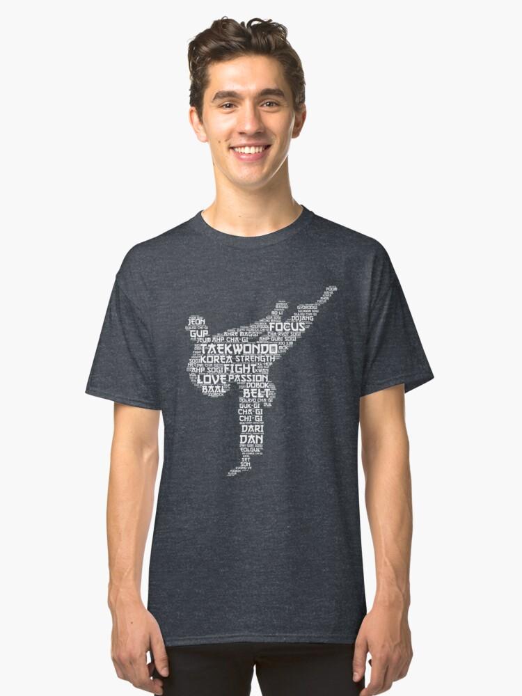 Taekwando Words Classic T-Shirt Front