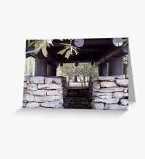 stone building Greeting Card