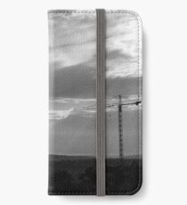 Black and white Cranes iPhone Wallet