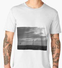Black and white Cranes Men's Premium T-Shirt