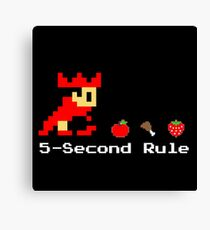 5-Second Rule Canvas Print