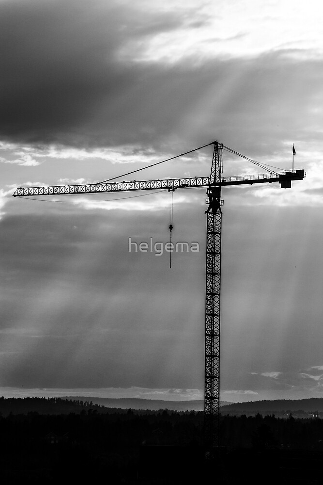Construction Crane by helgema