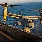 Ein US Marine Corps MV-22B Osprey landet auf USS Kearsarge. von StocktrekImages