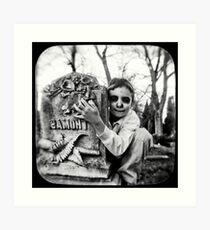 cemetery show 20 Art Print