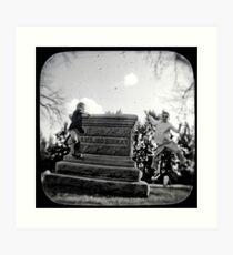 cemetery show 15 Art Print