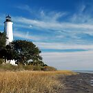 St Marks Lighthouse, near Tallahassee, Florida by Marguerite Foxon