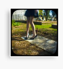 dancing on the grave Canvas Print