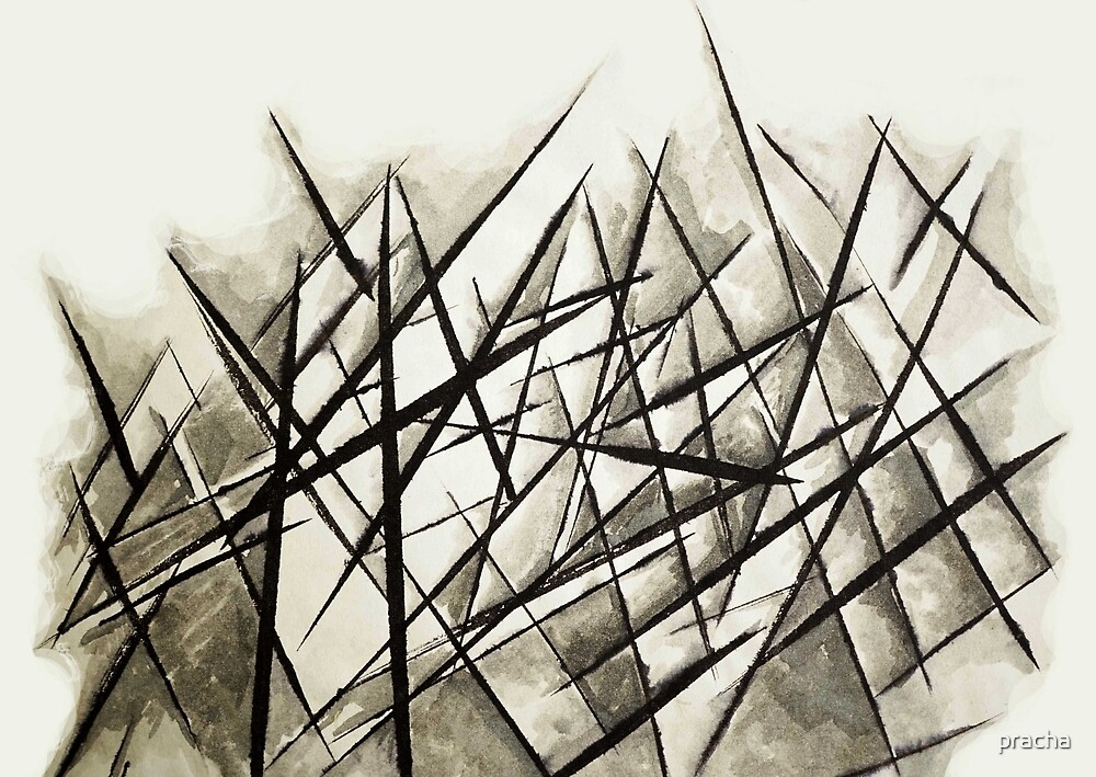 Abstract Lines 13 by pracha