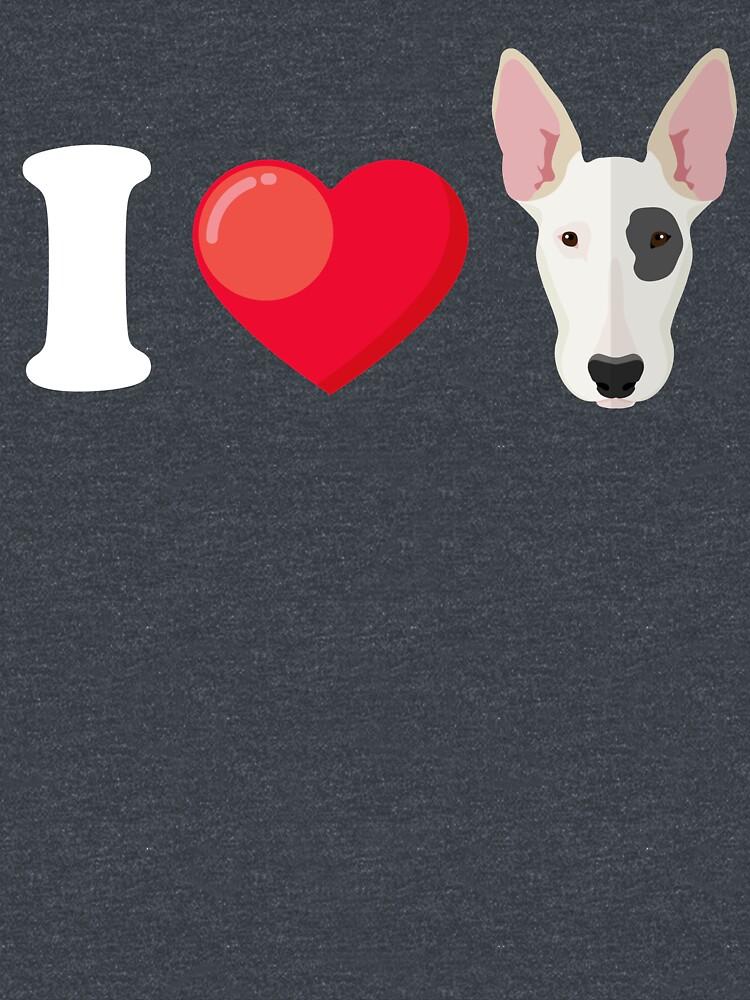 I Love Bull Terrier by Phoenix23