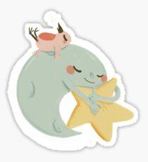 Moon Nap Sticker