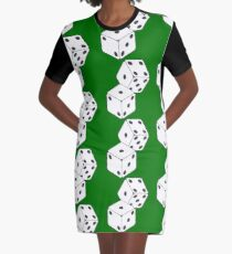 Rolled Dice Graphic T-Shirt Dress