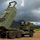 Ein M142 hochmobiles Artillerie-Raketensystem. von StocktrekImages