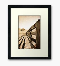 fence with texture Framed Print