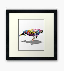 Tagged Whale Framed Print
