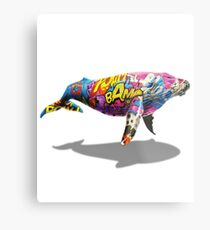 Tagged Whale Metal Print