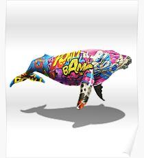 Tagged Whale Poster