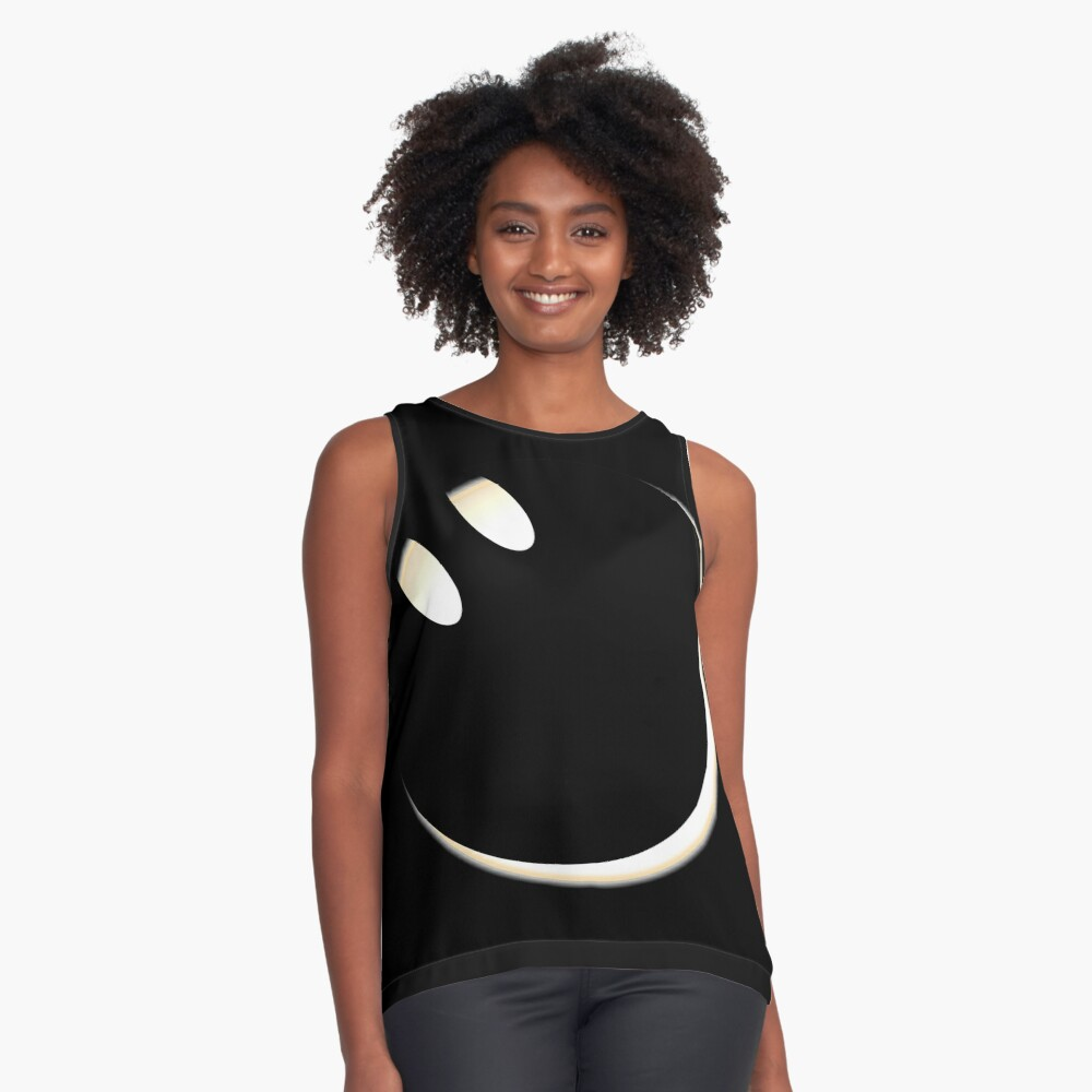 Total Solar Eclipse 2017 - The Smiling Side Of The Moon Contrast Tank Front