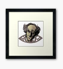 Count Olaf and the eye - A series of unfortunate events t-shirt Framed Print