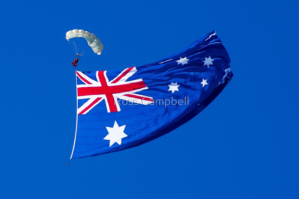 Aussie Flag by Ross Campbell
