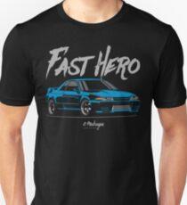 Fast Hero. R32 GT-R (blue) T-Shirt
