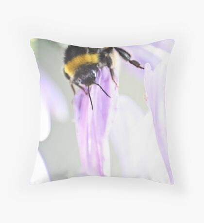 Bee-ing watchful Throw Pillow