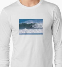 Bodyboarder in action Long Sleeve T-Shirt