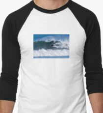 Bodyboarder in action Men's Baseball ¾ T-Shirt