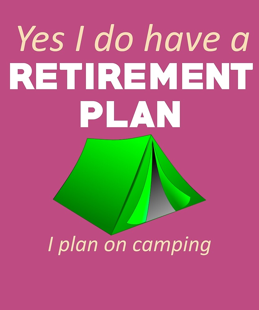 I'll Be Camping Funny Tent Building by AlwaysAwesome