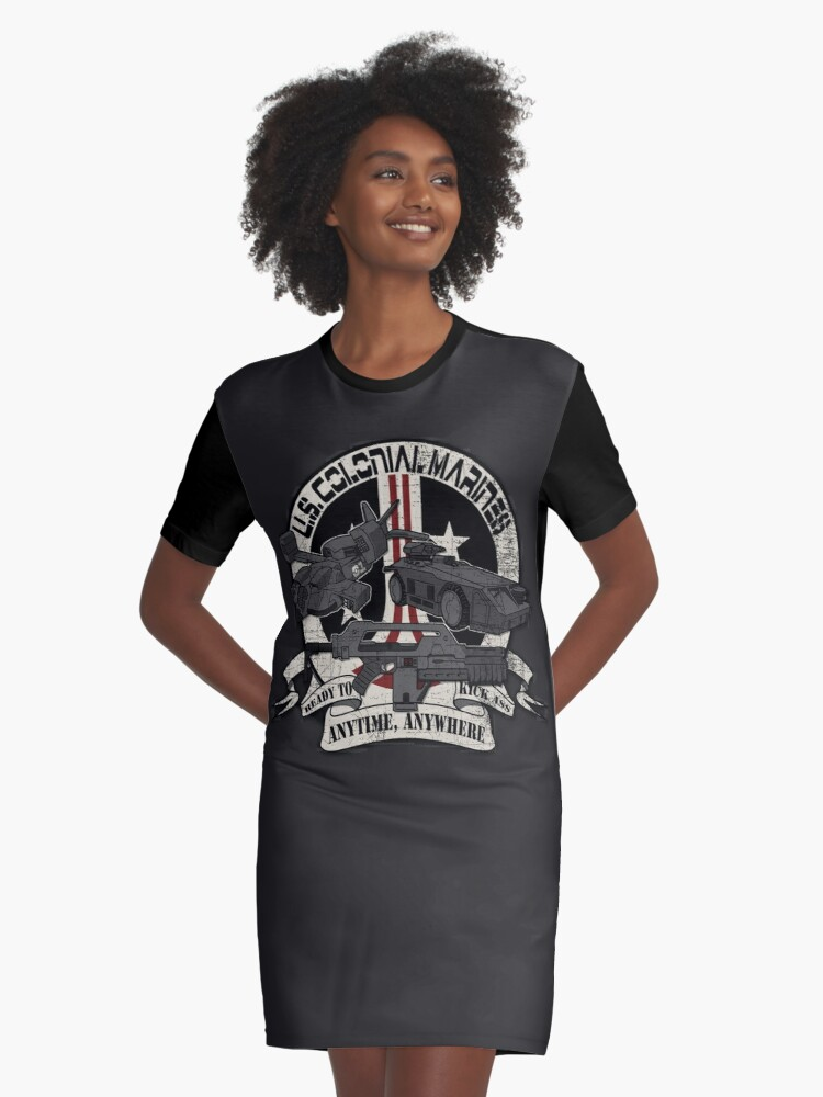 Anytime, Anywhere. Graphic T-Shirt Dress Front