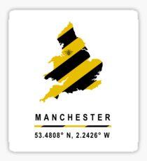 Manchester GPS Bee Map Sticker
