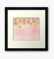 Misty rose gold floral Framed Print