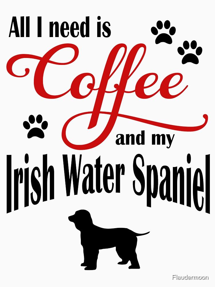 Coffee and my Irish Water Spaniel by Flaudermoon