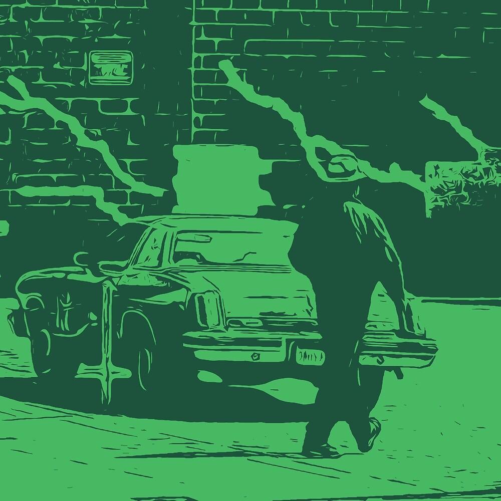 Mystery Man - Green by Brendan Arthur Ring
